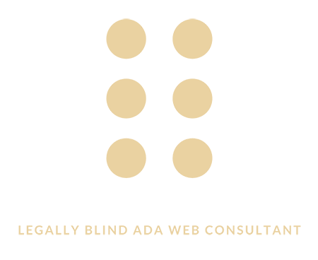 Legally Blind ADA Web Consultant logo